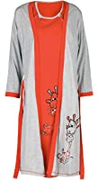 Happy Mama. Womens Maternity Hospital Gown Robe Nightie Set Labour & Birth. 773p
