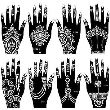 Henna Tattoo Schablonen 8 Stuck Zur Einmaligen