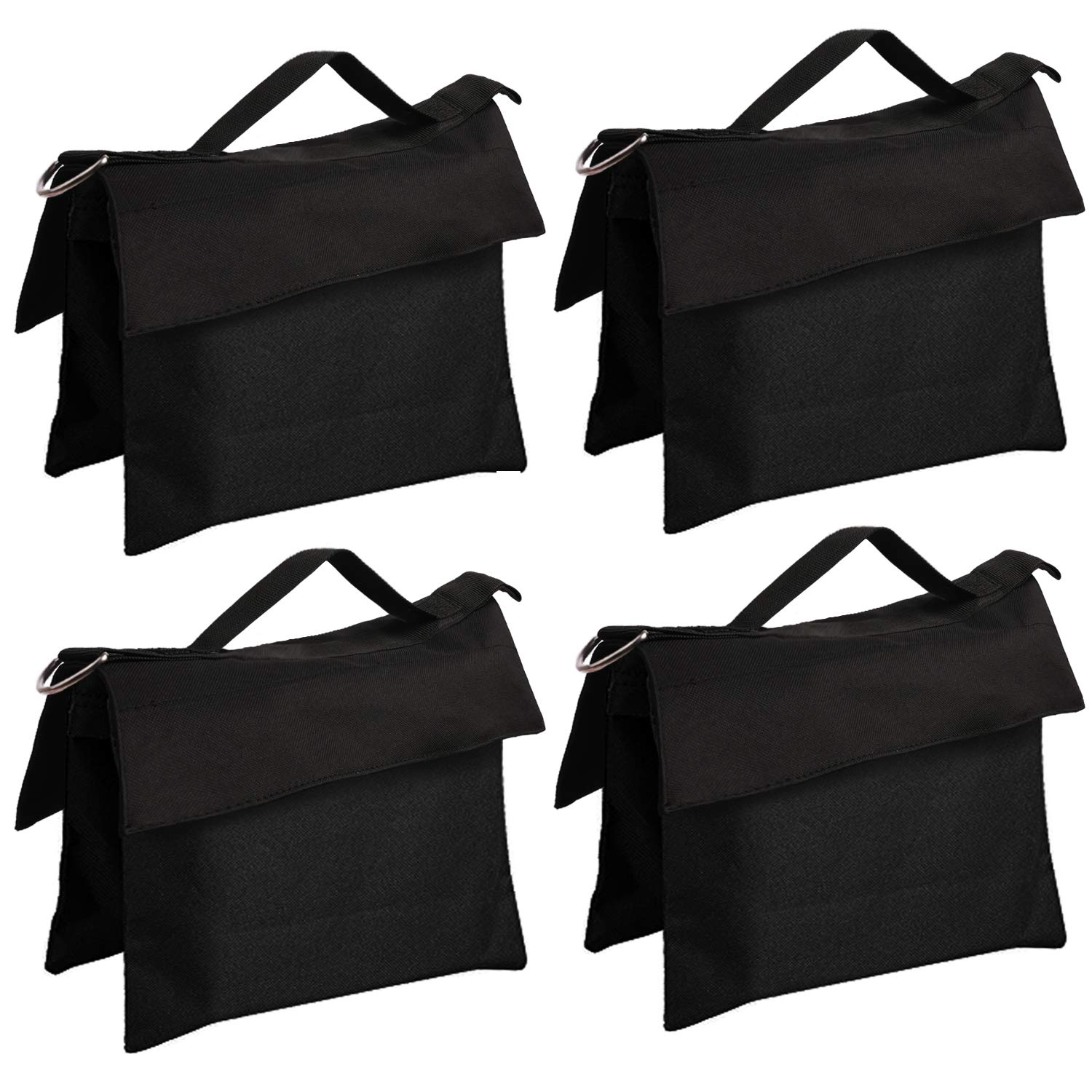 ABCCANOPY Sandbag Saddlebag Design 4 Weight Bags for Photo Video Studio Stand, (New Type of Black-4pcs) by ABCCANOPY