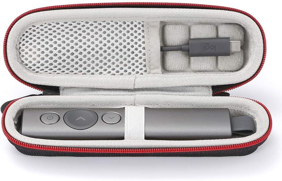 para la venta es solo el caso, el dispositivo y los accesorios no est/án incluidos forro negro Estuche r/ígido de viaje para Logitech Spotlight Presentation Remote - Negro