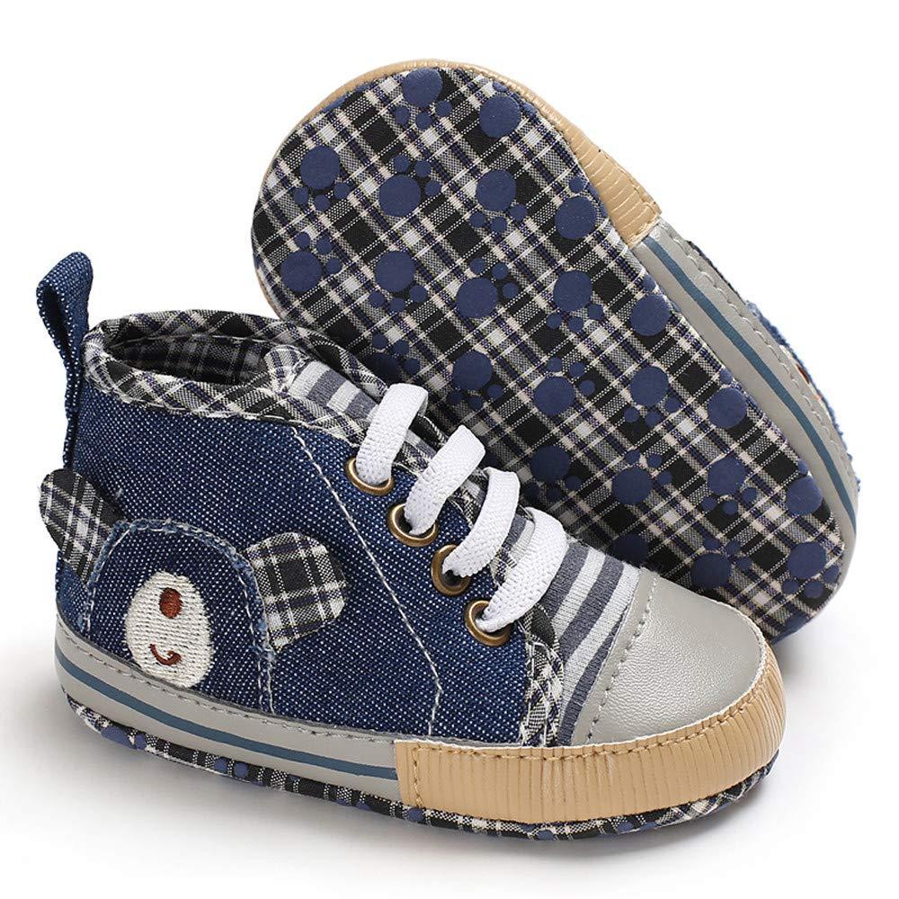 Lurryly❤Shoes for Boys Girls Denim Boots Bear Anti-Slip Shoe Sneaker Infant//Toddler