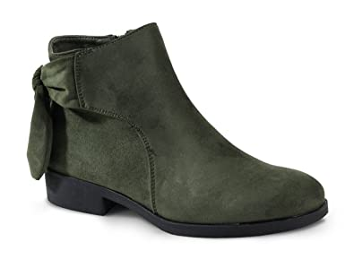 By Shoes Bottine Plate Style Daim - Femme - Taille 38 - Green ... 24775ef922ba
