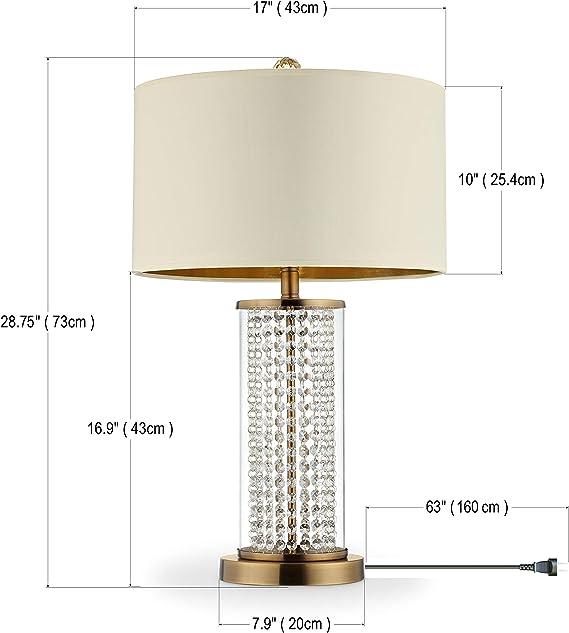 Ok Lighting Azok5159t 28 75 H Pluviam Table Lamp Brass Amazon Com