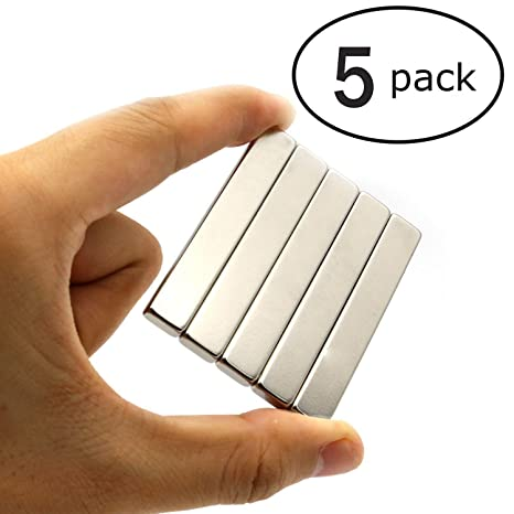 5 unidades Magnets, Super rectángulo Imán de neodimio-60 x10 x 3 mm,
