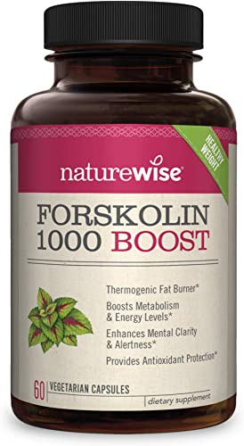 NatureWise Premium Forskolin 1000 Boost Highest Concentration Pure Active Forskolin