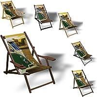 Printalio VW Bus - Liegestuhl Bedruckt Balkon Garten Sonnenliege Relax Holz Terrasse