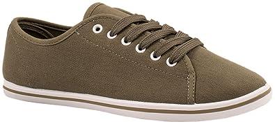 Elara Basic Sneakers | Sportlich Bequeme Turnschuhe | Low Schnürer |  chunkyrayan 14243-A-