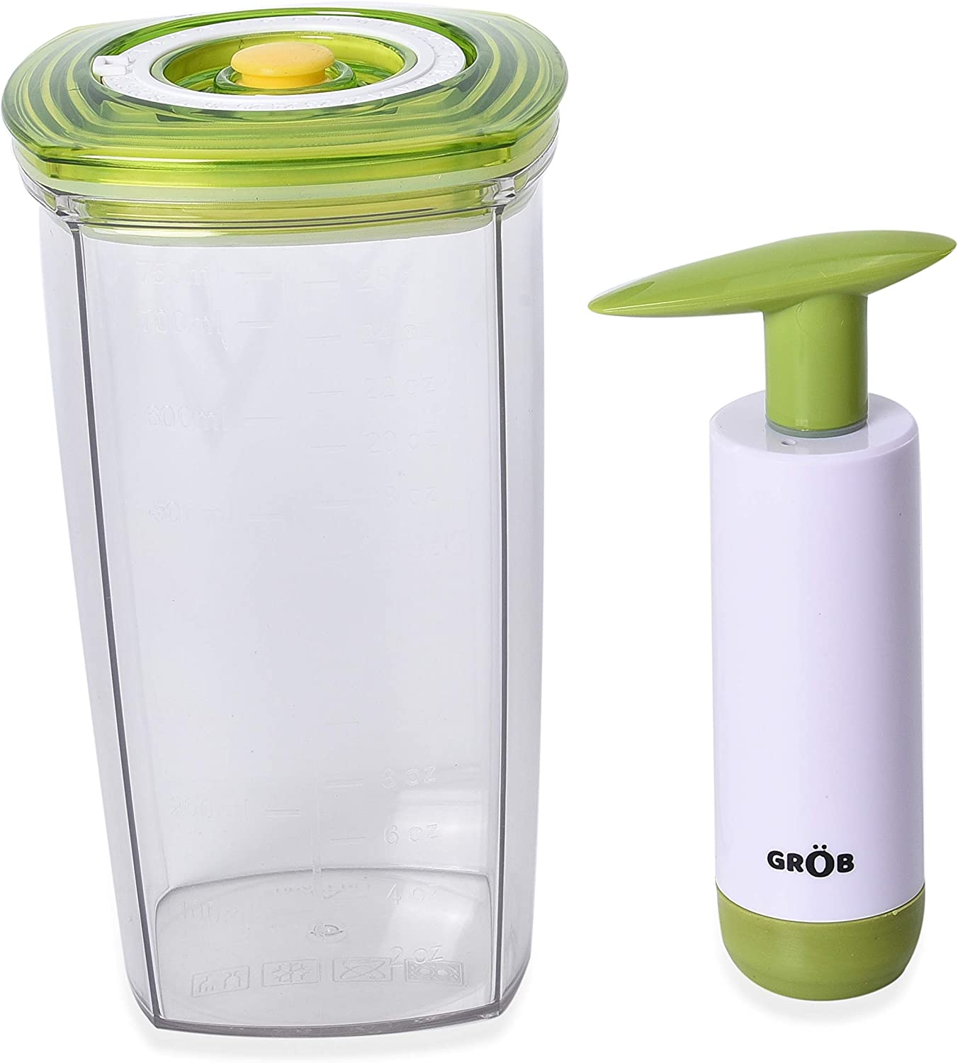 Shop LC Delivering Joy Set of 2 Vacuum Seal Juice Saver Container Pump Home Kitchen Set
