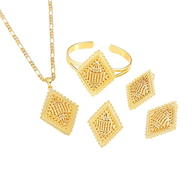 Ethiopian New Jewelry Sets Gold Color Eritrean African Sudan