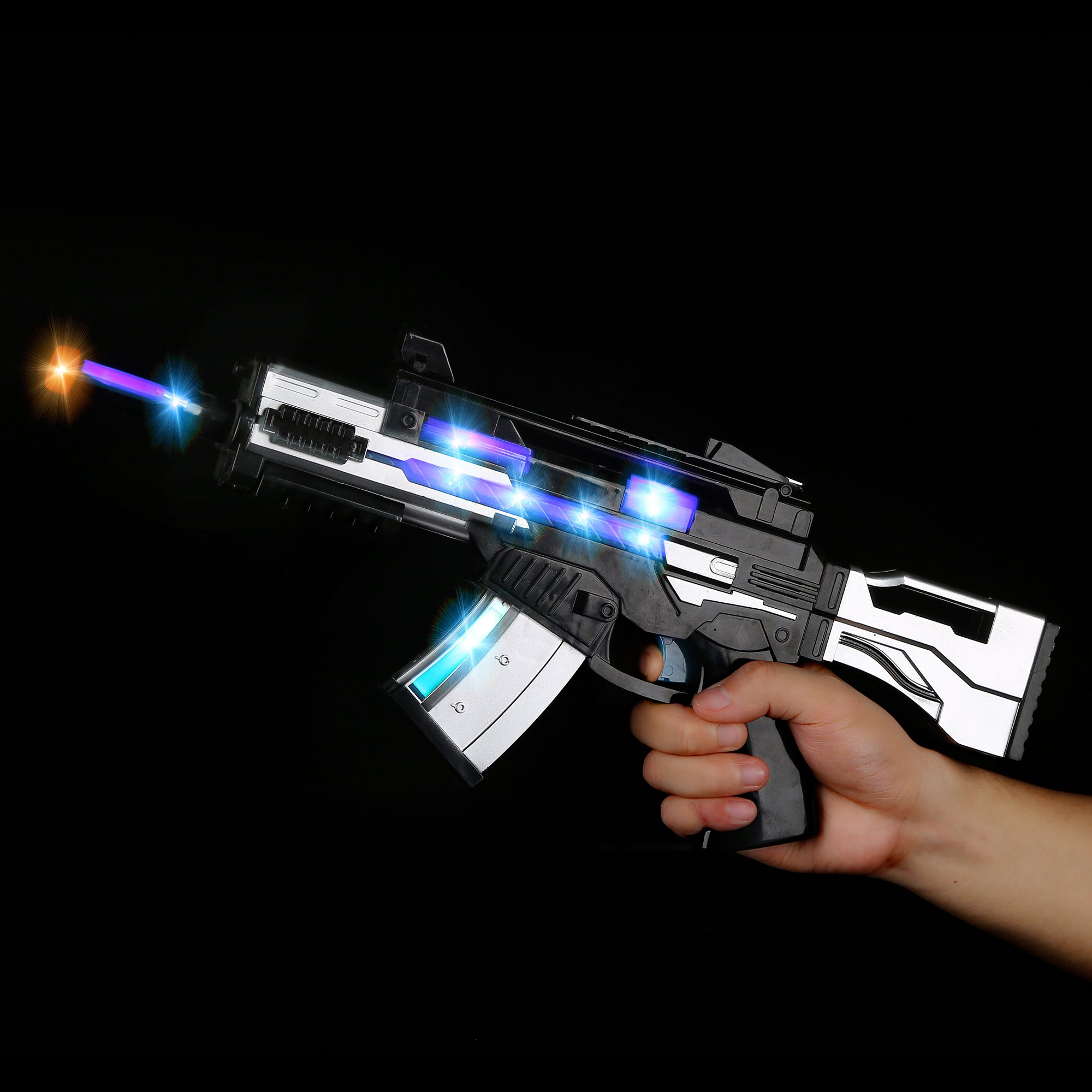 Fun Central AU491 17 Inch LED Light Up SW Blaster with Sounds Effect, LED Blaster Toy Gun, Light Up Blaster Gun for kids, Blaster Gun - for Party Favors, Gifts, Prizes, Rewards, Giveaways