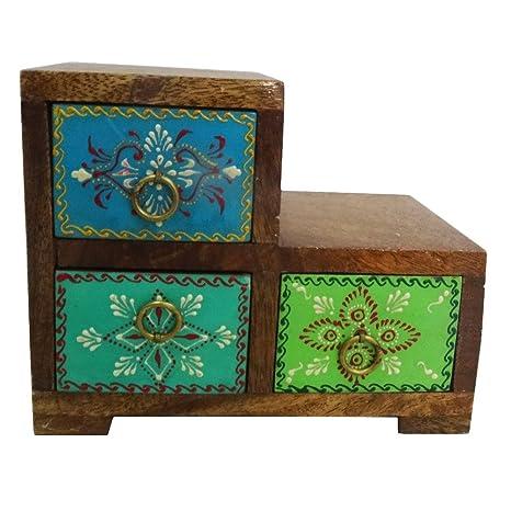 conjunto de mdf pintada de naranja decoración del hogar caja de joya decorativa regalos 3 piezas