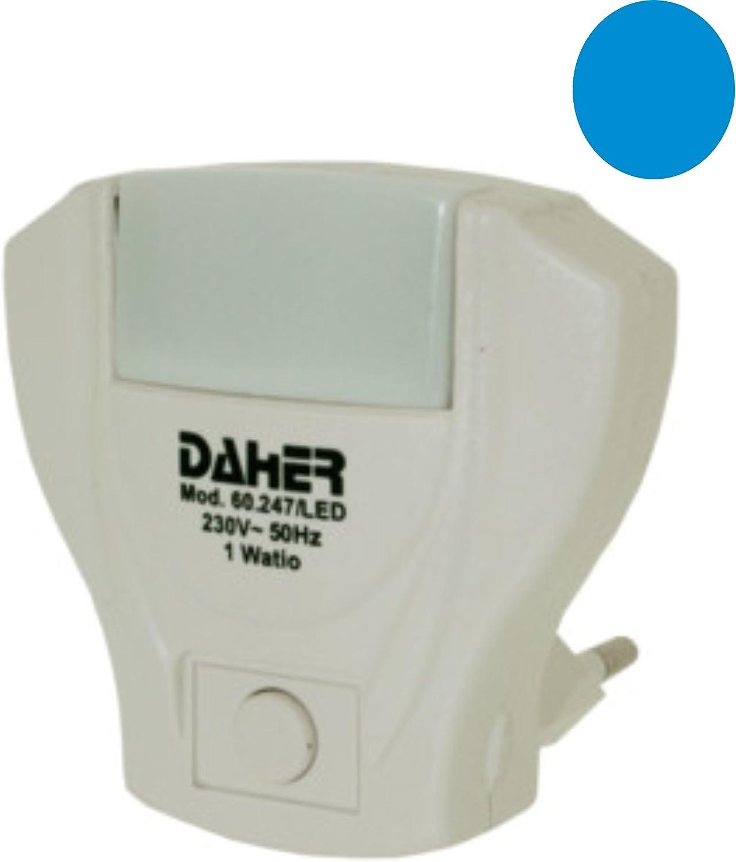 ElectroDH 60247LEDAZ DH 60.247/LED/AZ LUZ NOCHE CON 5 LEDS AZULES. 1W: Amazon.es: Bricolaje y herramientas