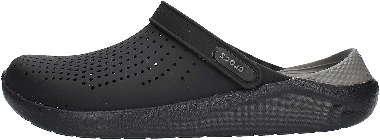 Crocs Men's and Women's LiteRide Clog, black/slate grey, 13 Women / 11 Men