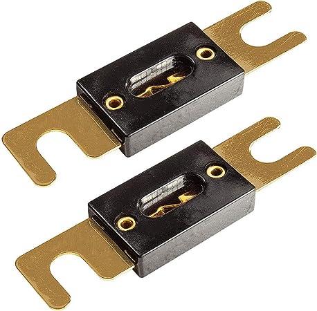Tomzz Audio 5800 020 Anl Sicherung 80a Vergoldete Kontakte 2 Stück Für Kfz Car Hifi Auto
