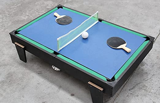 SHENGHUAJIE 4 en 1 Mesa de Billar / Air Hockey / Tenis de Mesa / Futbolín: Amazon.es: Juguetes y juegos