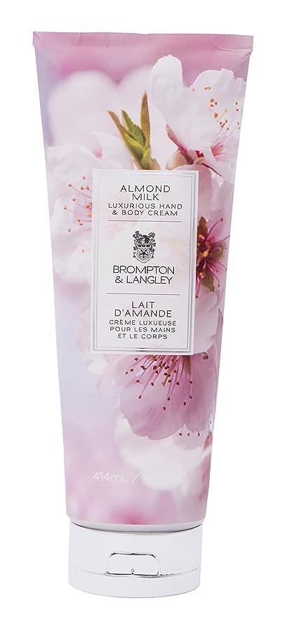Brompton y Langley Cuerpo Crema, Leche de almendras 400 ml