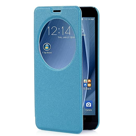 573 opinioni per Per Asus Zenfone 2 , ivencase Premium Ultra-thin Flip PU Cover in Ecopelle [View
