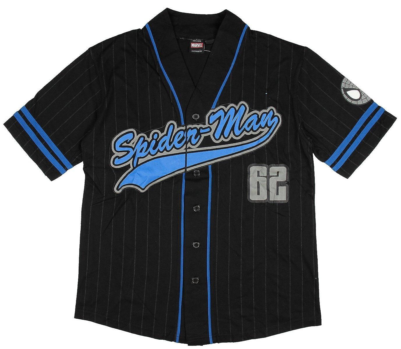 04bc5129393cd Amazon.com  Mad Engine Spiderman Baseball Jersey Black  Clothing