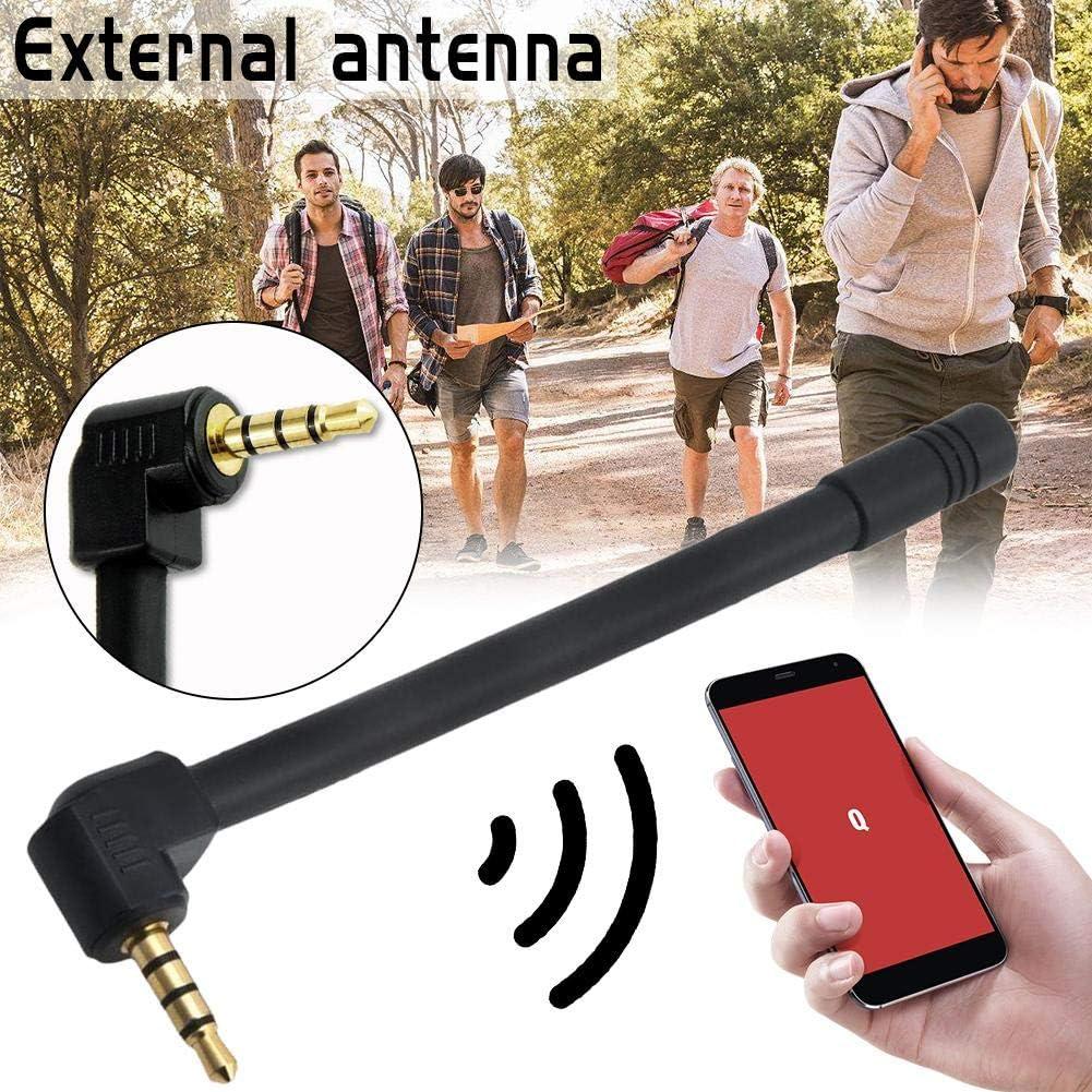 iBàste Antena Exterior de 3,5 mm Señal de Antena Externa Amplificador Mejorado Teléfono 5DBI: Amazon.es: Electrónica