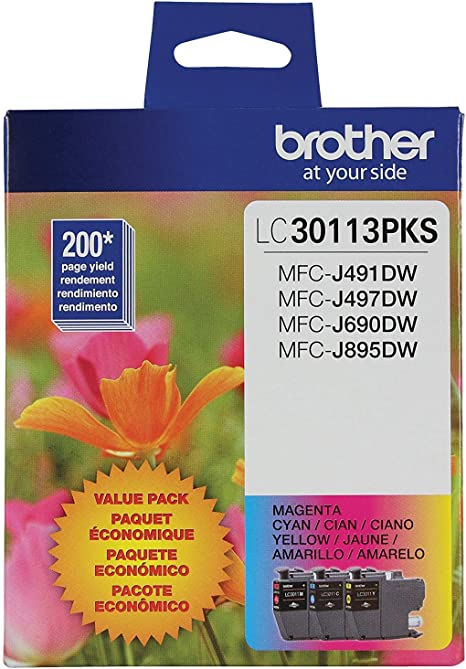 Amazon.com: Brother LC30113PKS LC3011 - Cartuchos de tinta ...