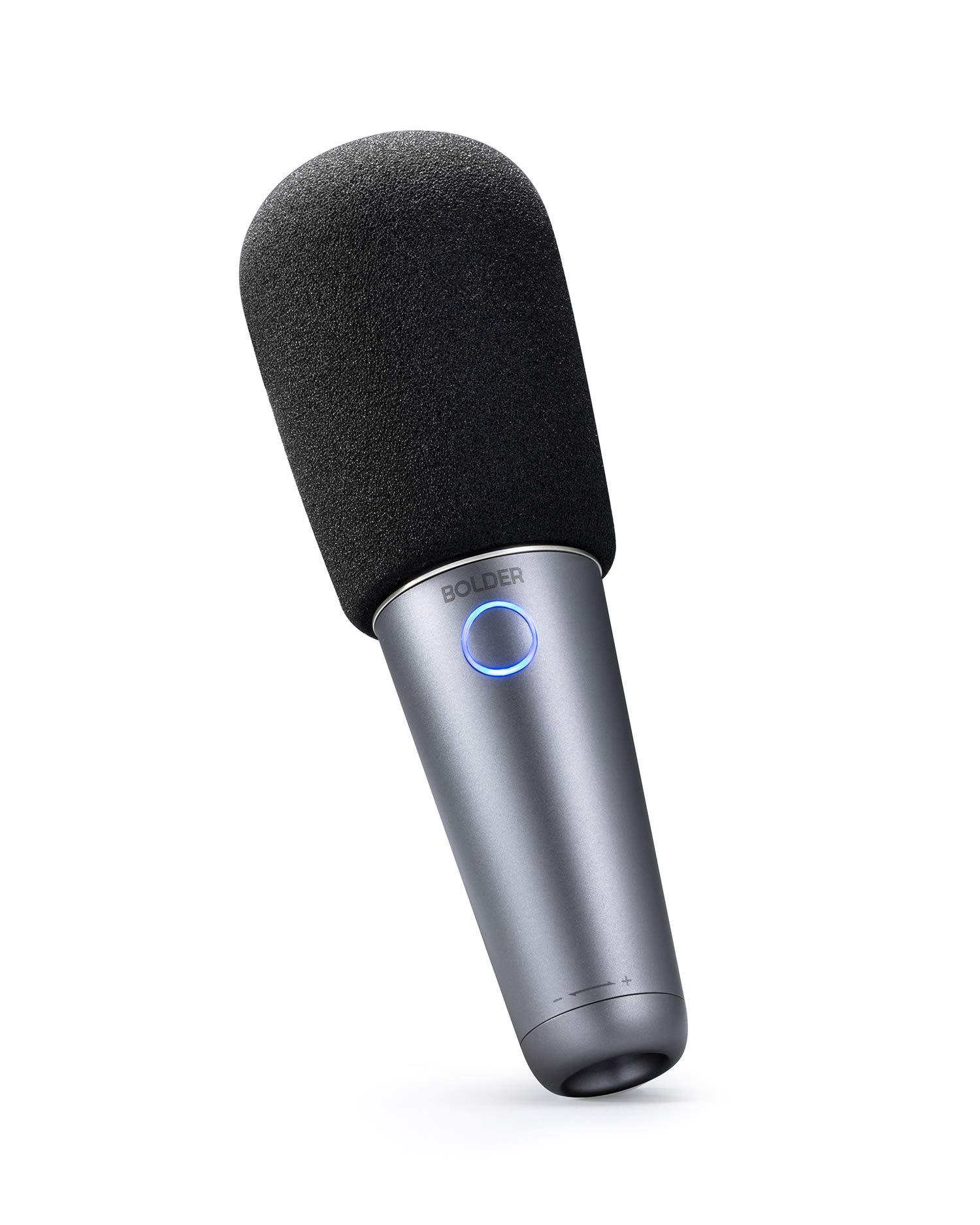Micrófono de karaoke Bluetooth, micrófono de karaoke más audaz para iOS, Android, PC, altavoz incorporado, Bluetooth, US