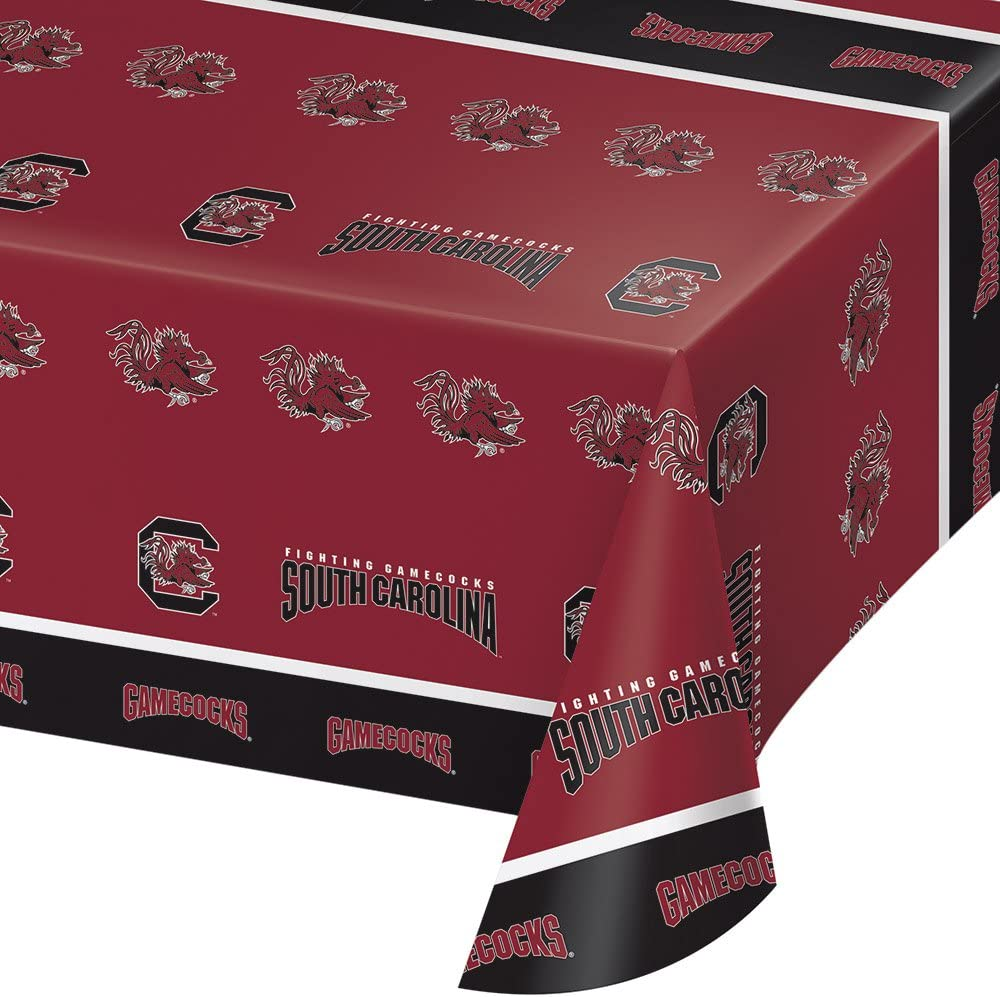 2-ct University of South Carolina Gamecocks Premium Plastic Table Covers College Football Party