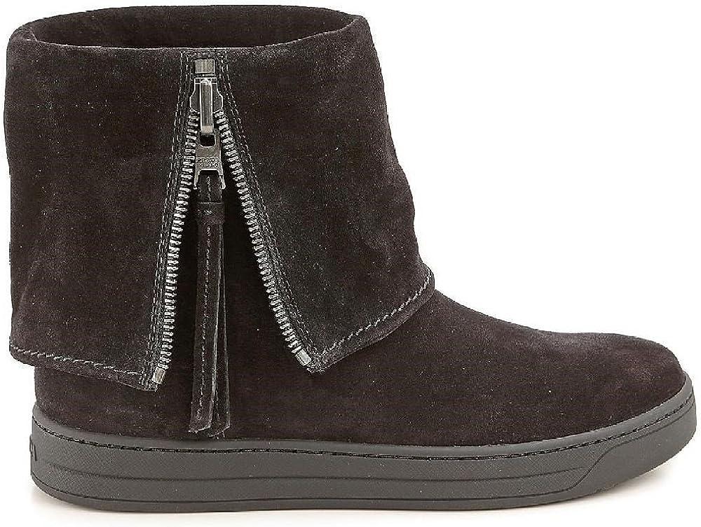 Prada Sport botas de tobillo plano en negro Suede leather - Número de modelo: 3T5867 O53 F0002