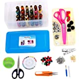 Kurtzy Premium Multipurpose Tailoring Sewing Tool Kit Accessories Supplies Threads bobbins Needles Trimmers Buttons hooks scissors