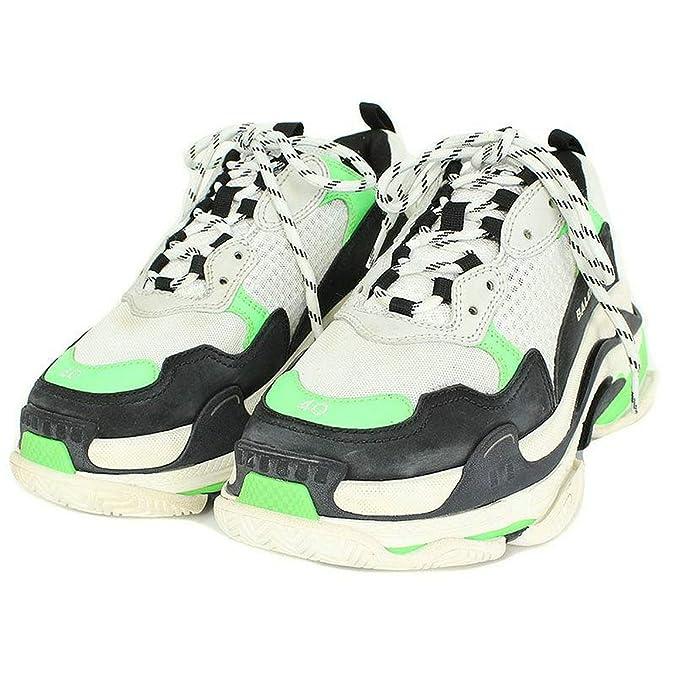 d1cdaa62e64b TOPSHOD Unisex Mens Womens Balenciaga Triple S Sneakers Mr. Porter Neon  Green  Amazon.co.uk  Shoes   Bags