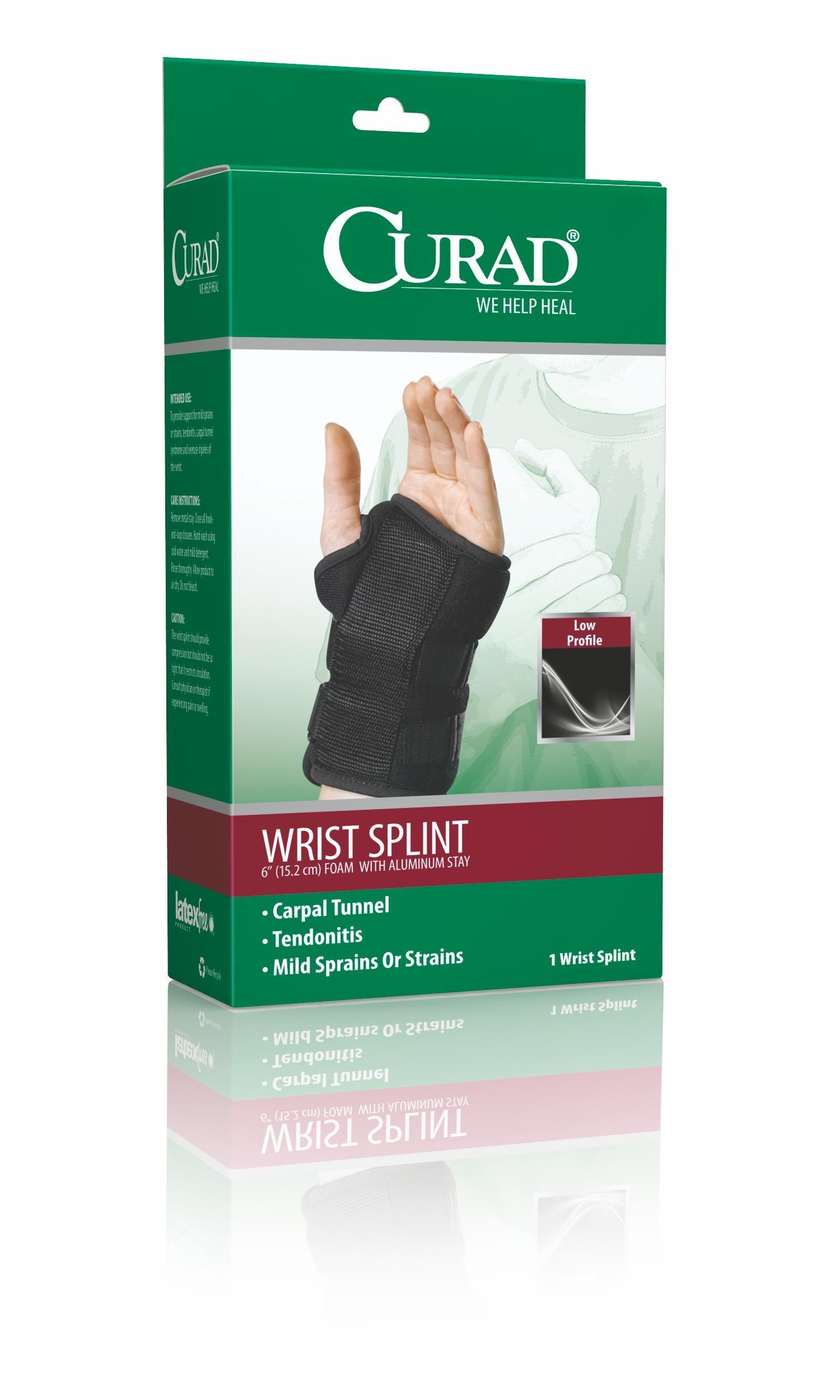 Curad ORT19000LD24 Universal Wrist Splint, Left