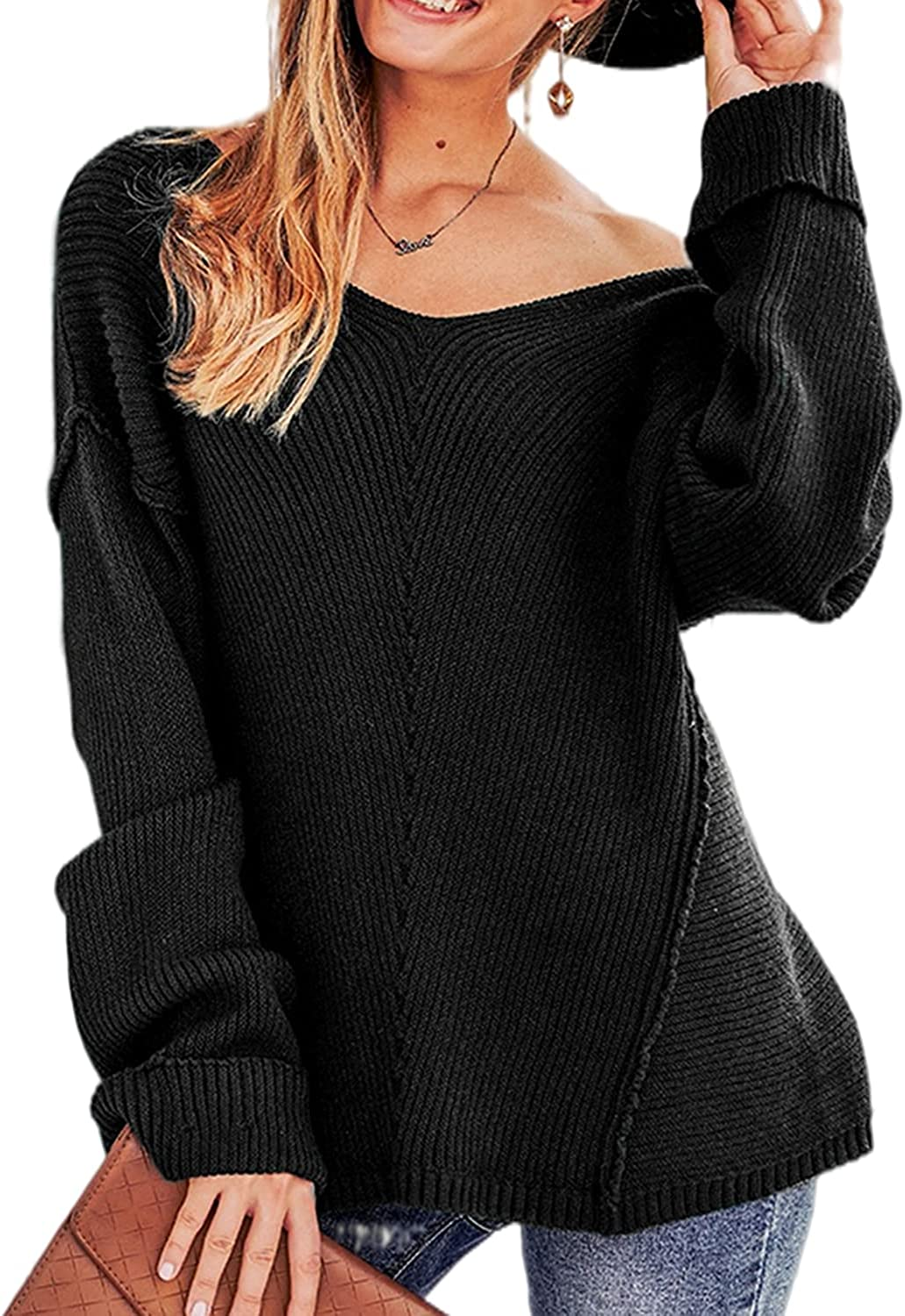 Ladies Off Shoulder Cable Pattern Stretch Fit New Oversized Knitted Tunic Jumper