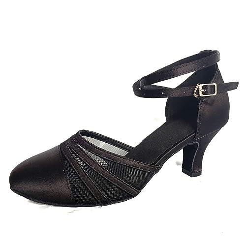 Jywmsc Latín La Salsa Tango Zapatos de Baile para Señoras Mujeres Social Bailando Salón de Baile Interior Zapatos Baile: Amazon.es: Zapatos y complementos