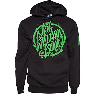 Hoodie Men's green co Clothing 187 Xxl uk Amazon Strassenbande Small - Black