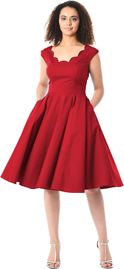 50s Dresses UK | 1950s Dresses, Shoes & Clothing Shops eShakti Womens Virginia dress £44.95 AT vintagedancer.com