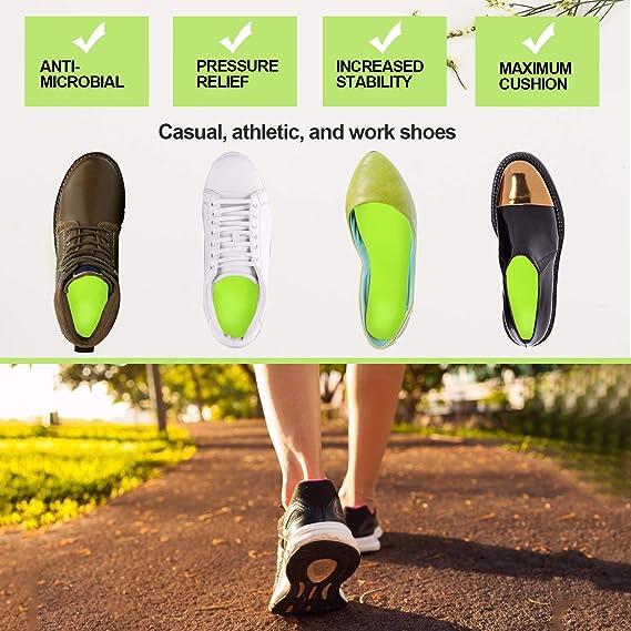 Support de la Vo/ûte Plantaire et Talonnette Everhealth Semelles orthop/édiques et diab/étiques Semelle Chaussures Confort avec Technologie Anti-bact/éries PORON pour Amortisseur