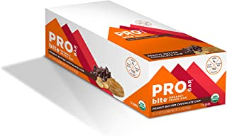 product image for PROBAR - bite Organic Energy Bar, Peanut Butter Chocolate Chip, Non-GMO, Gluten-Free, USDA Certified Organic, Healthy, Plant-Based Whole Food Ingredients, Natural Energy (12 Count)