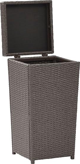 Crosley Furniture CO7301-WG Palm Harbor Outdoor Wicker Trash Bin