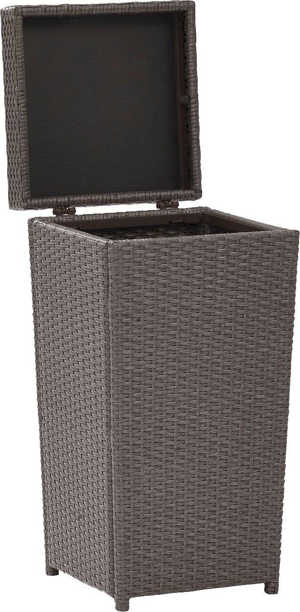 Crosley Furniture Palm Harbor Outdoor Wicker Trash Bin - Grey
