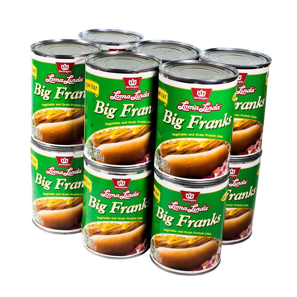 Loma Linda - Vegan - Low Fat Big Franks (20 oz.) (Pack of 12) - Kosher
