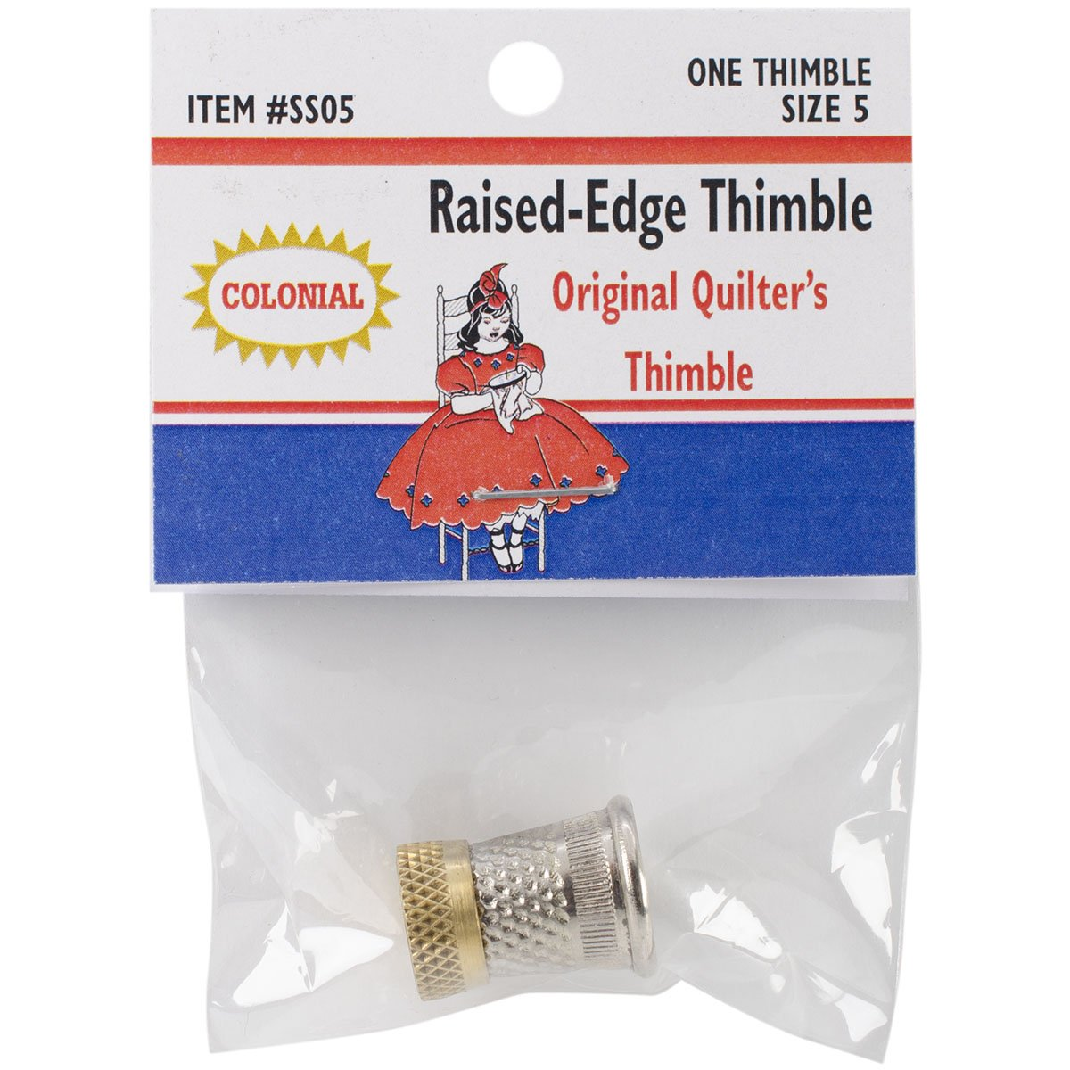 Colonial Needle SST-5 Raised Edge Thimble, Size 5 by Colonial Needle