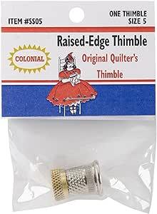 Colonial Raised-Edge Thimble-Size 5