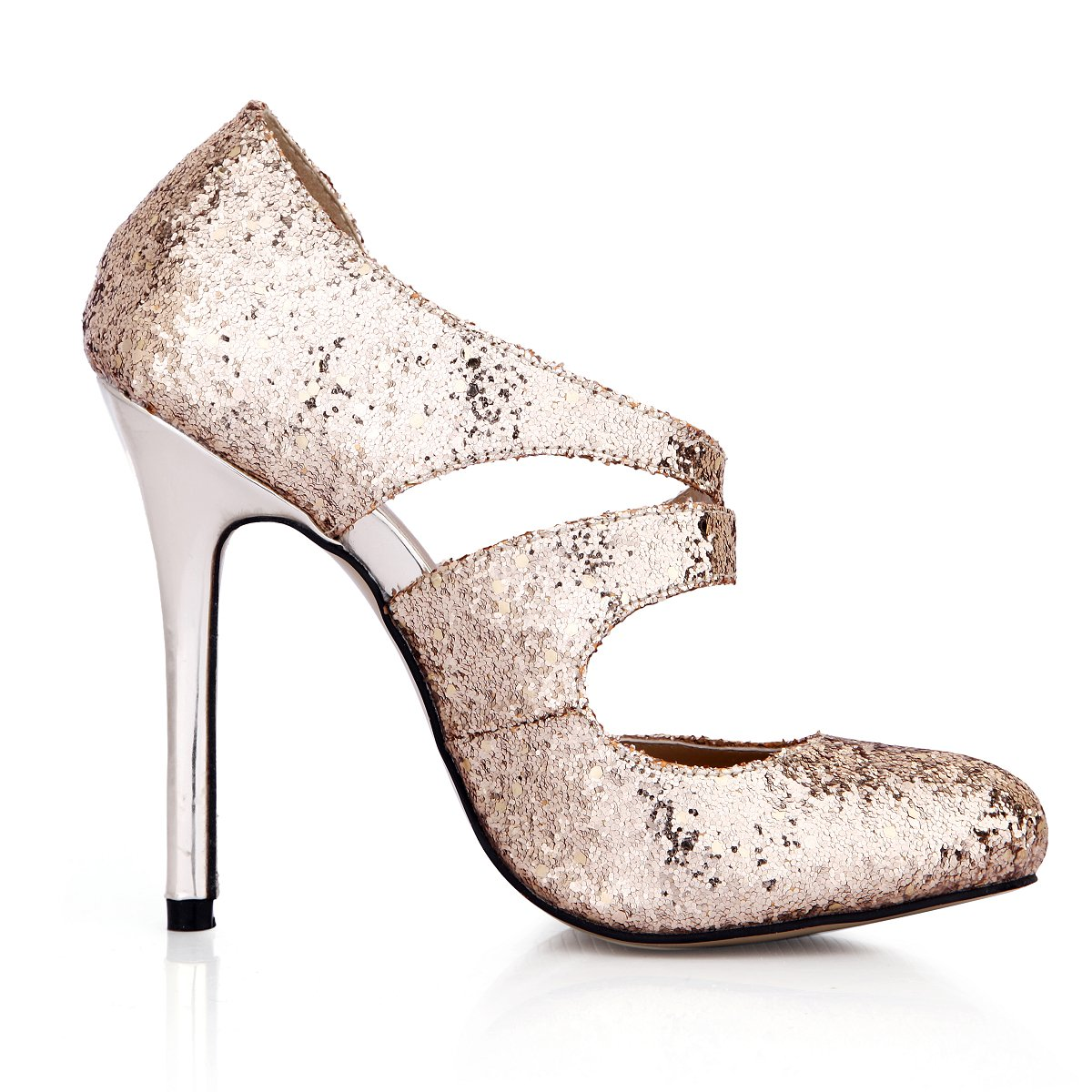 be66b61c3803 Amazon.com   Dress Pointy Stiletto Pumps Glitter Gold Women Fashion High  Heels DolphinGirl Shoes Prime   Heeled Sandals