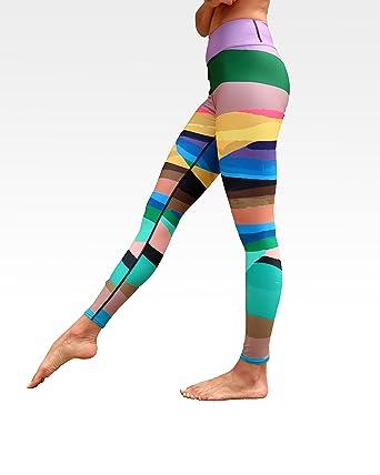 51458c6d0ce3c Wear AM Yoga Pants Leggings Designer Ankle Length Cute with Original Art  Infinite Mountain Print (
