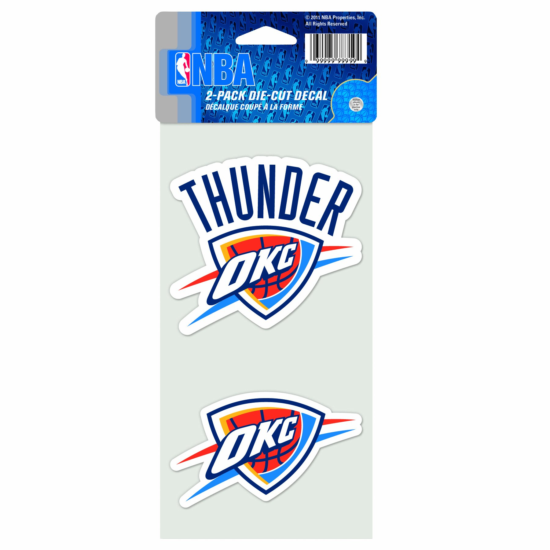 WinCraft NBA Oklahoma City Thunder 4-by-8 Die Cut Decal