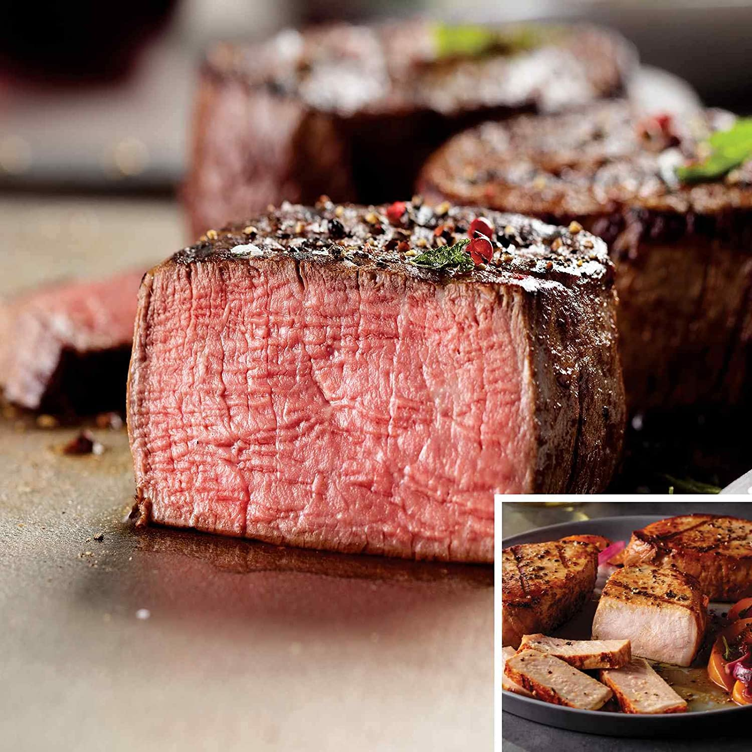 Filet Mignons and Pork Chops