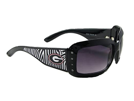 Sports Accessory Store Georgia Bulldogs UGA Black Zebra Print Clear Crystal Womens Sunglasses S4ZB