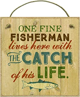 product image for Imagine Design Fisherman and The Catch Outdoors One Fine Fisherman & Catch Magnet