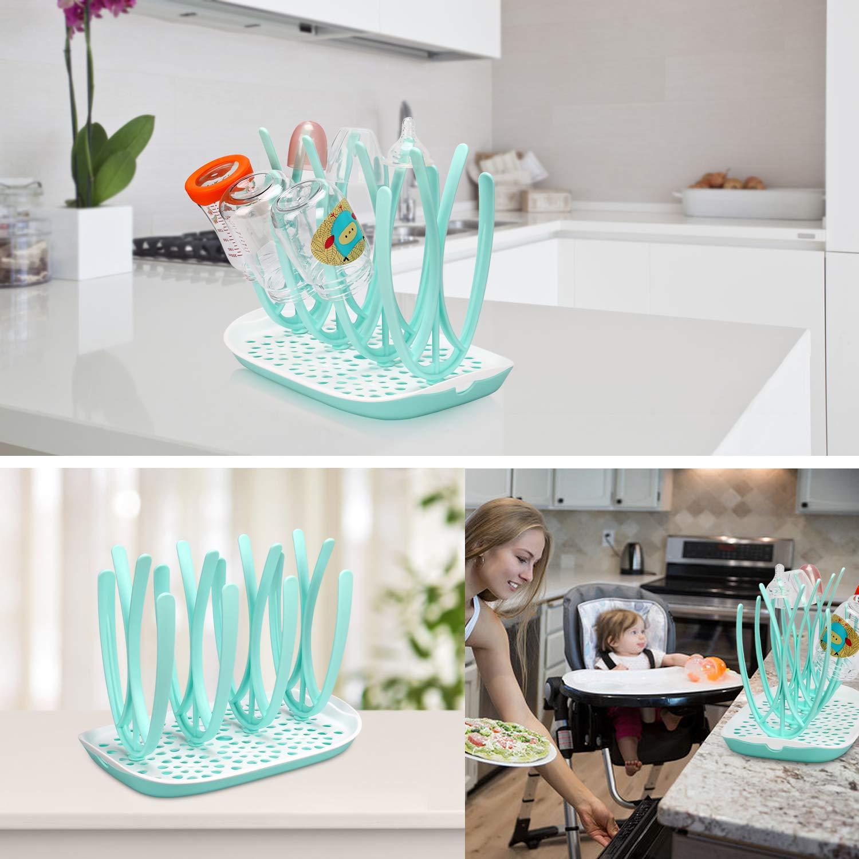 Amazon.com: Botella rack de secado secador de y plato BFA ...