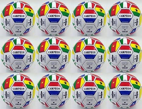 Lot de 12 Campeon Worldcup de la FIFA International Flag Balón de ...