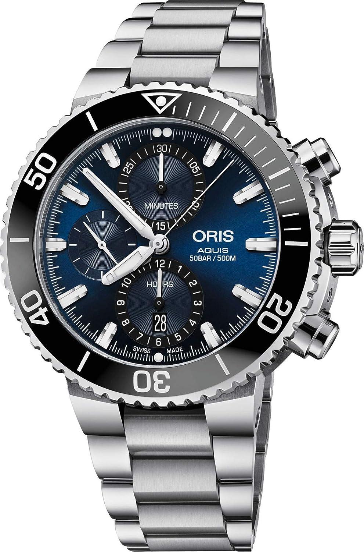 Oris Aquis Chronograph Blue Stainless Steel Men's Watch
